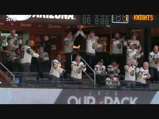 Golden knights dads celebrate reilly smiths goal