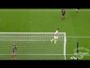 Mesut Ozil, inventor of hitting into the ground finish. -