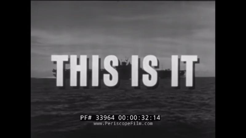 U.S. NAVY WWII NAVAL AVIATOR TRAINING FILM THIS IS IT REEL 1 33064