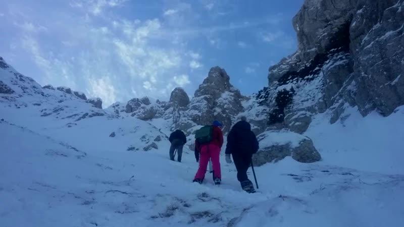 Тренировка в Холодном кулуаре Чатырдага