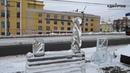 Разрушенные скульптуры ангелов в Ижевске