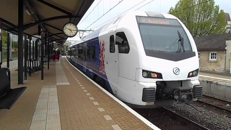 Treinen op station Valkenburg 25 april 2017