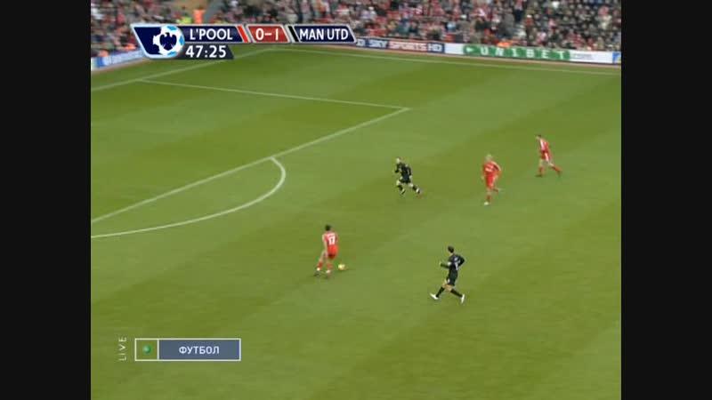 чемпионат англии 2007 2008 17 й тур Ливерпуль Манчестер юнайтед нтв