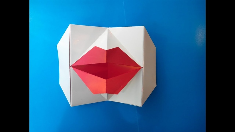 Говорящие губы оригами (Young-soon Lee), Talking lips of origami.