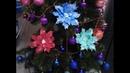 Новогодние цветы из фоамирана для украшения елки. Рождественская пуансеттия!