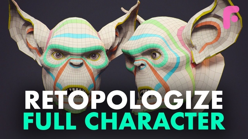 How to Retopologize a Full Character - 30 Min Free Excerpt