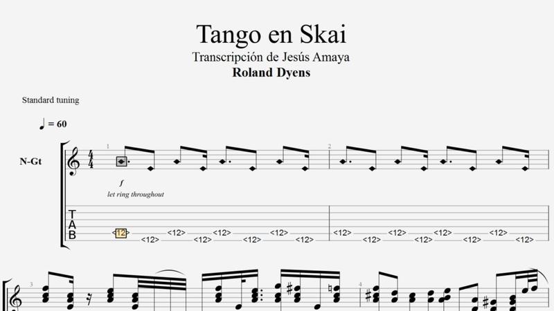 Tango en Skai - Roland Dyens - Tablatura por Jesús Amaya...