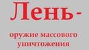Лень – оружие массового уничтожения. Алексей Коломойцев.