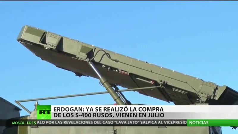Erdogan afirma que ya se realizó la compra de los S 400 rusos y que llegarán en julio