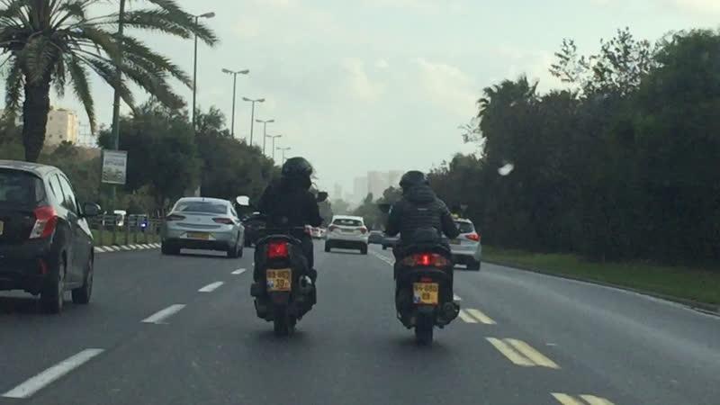 Такие мотоциклисты в Тель Авиве