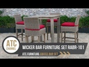 Outdoor Wicker Bar Furniture Set RABR 101 2019