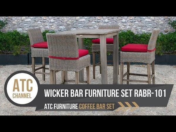 Outdoor Wicker Bar Furniture Set RABR-101 | 2019