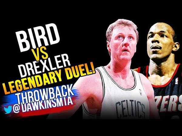 Larry Bird vs Clyde Drexler LEGENDARY 2OT Duel 1992.03.15 - Drexler With 41/11, Bird With 49/14/12!