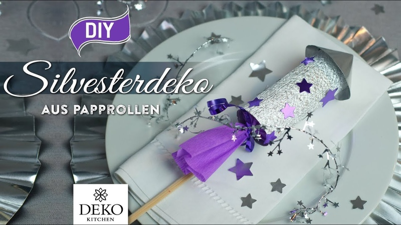 DIY lustige Silvesterdeko-Raketen selbermachen [How to] Deko Kitchen