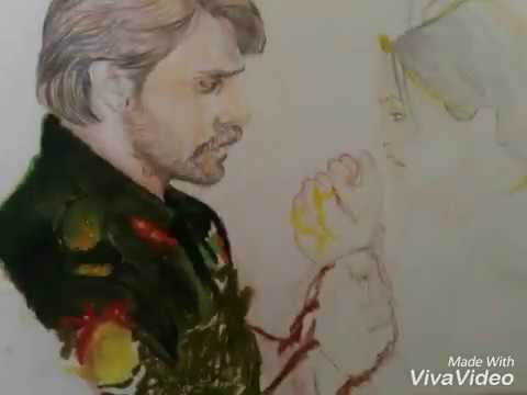 Paro Rudra drawing | Oil Pastel Art