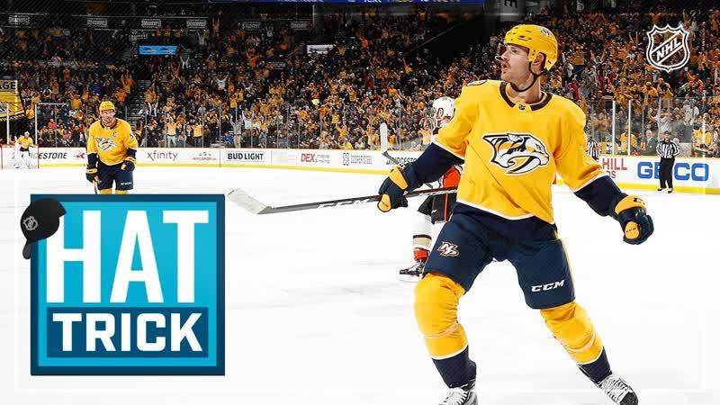 Austin Watson's first hat trick powers Predators past Ducks