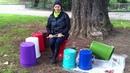 Plastic de rêve: batterie poubelle. Impro live @Parc des Cropettes, CH-Genève. 16. 10.2012