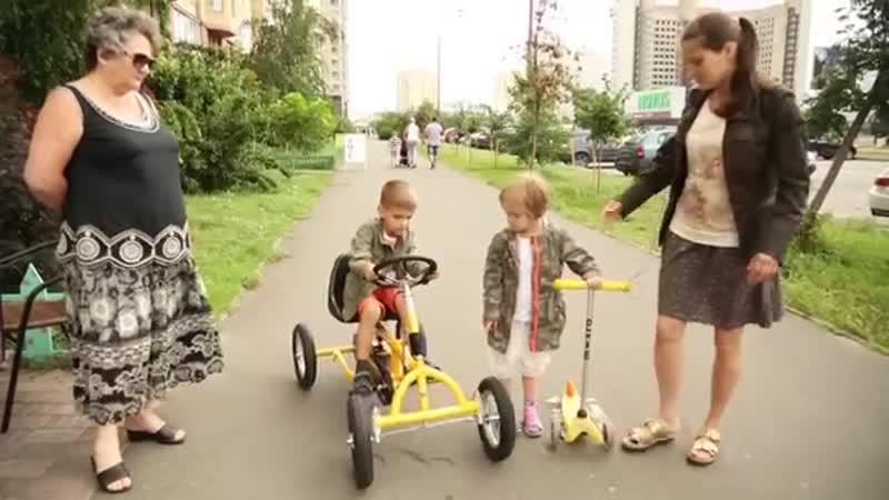 Велокарт Unix желтый - Unix Kart,четырехколесный велосипед для детей-velo-sport-weko-scscscrp