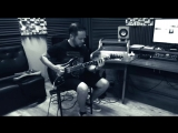 Denis recording guitar for new Criminal Element album