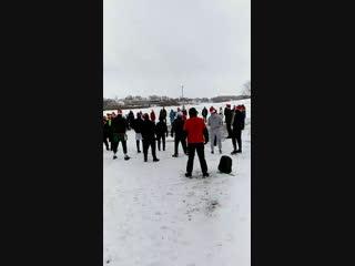Трезвая Пробежка и разминка. Великий Новгород. 1 января 2019