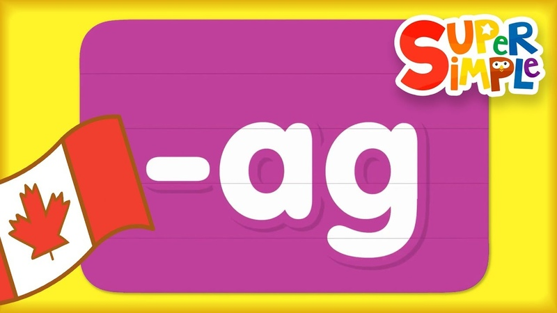 Word Family ag | Turn And Learn ABCs | Super Simple ABCs