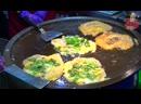 Taiwan Street Food - GIANT Oyster Omelette (Egg Pancake)