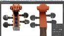 Отрисовка в Фотошопе Скрипка