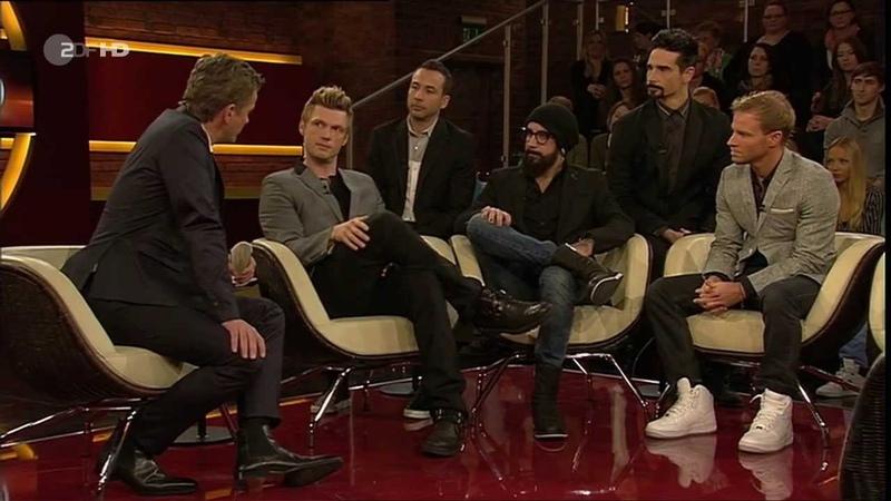 H.P. Baxxter, Backstreet Boys, Katja Weitzenböck @ Markus Lanz Show (ZDF) (19.11.2013)