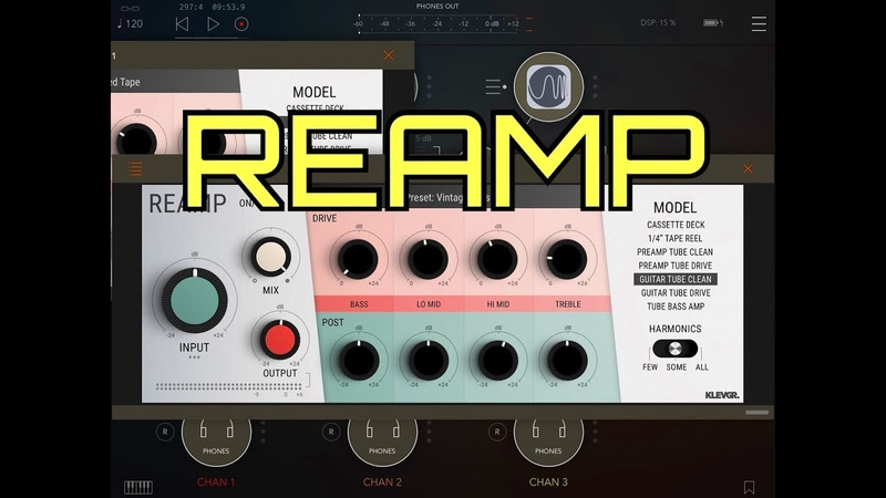 REAMP - AUv3 Audio Gear Modeler by Klevgrand - Demo Review for the iPad
