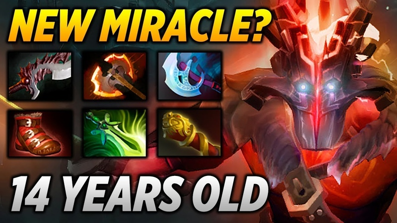 14 Years old Jugger [NEW MIRACLE!] Dota 2