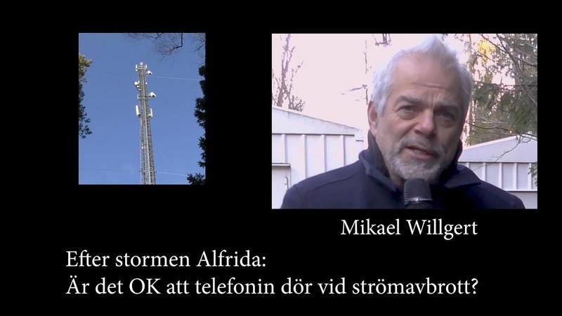 Efter Stormen Alfrida - Är det ok att telefonin dör vid strömavbrott?