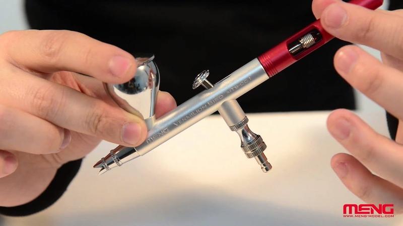 MENG MTS-001 Vermilion Bird 0.3mm Airbrush Hands On