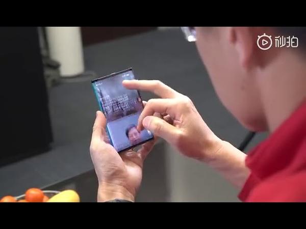 Xiaomi Mi Foldable phone shown by Lin Bin