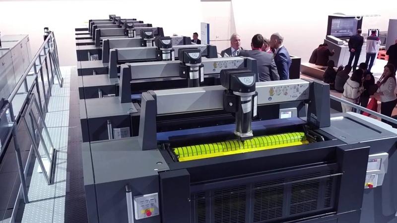 Heidelberg Speedmaster XL 106-8-P LED Bogenoffsetdruckmaschine - drupa 2016