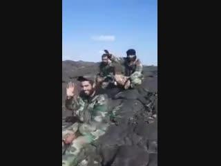 Первое видео, демонстрирующее контроль сирийской армией холмов Сафа, на административной границе провинций Дамаск и Сувейда. На