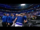 What a contest! Zverev beats Isner 3-6 7-68 [10-7]. - - TeamEurope2018 extends its lead to