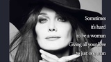 Stand by Your Man Carla Bruni (with Lyrics)