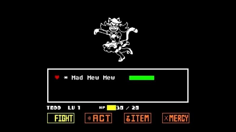 Undertale - Mad Mew Mew (Full Boss Fight)