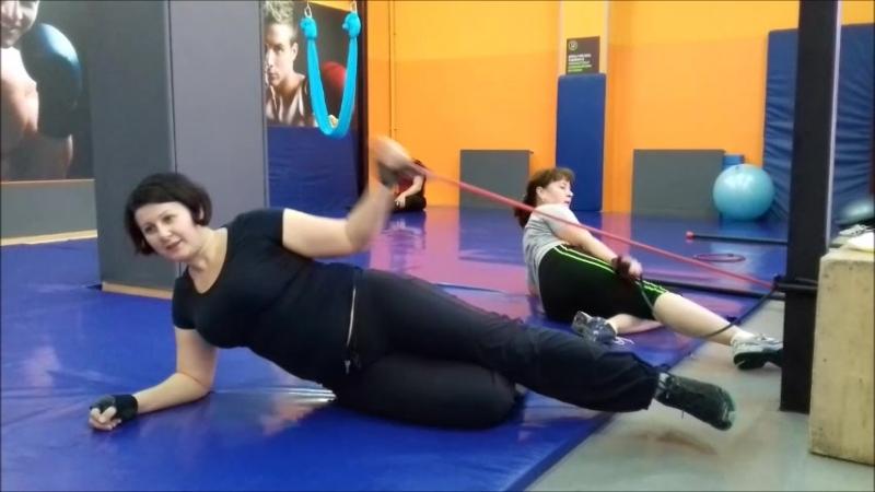 Инга и Ирина. Сплит персональная тренировка по программе снижения веса. Есть результаты....