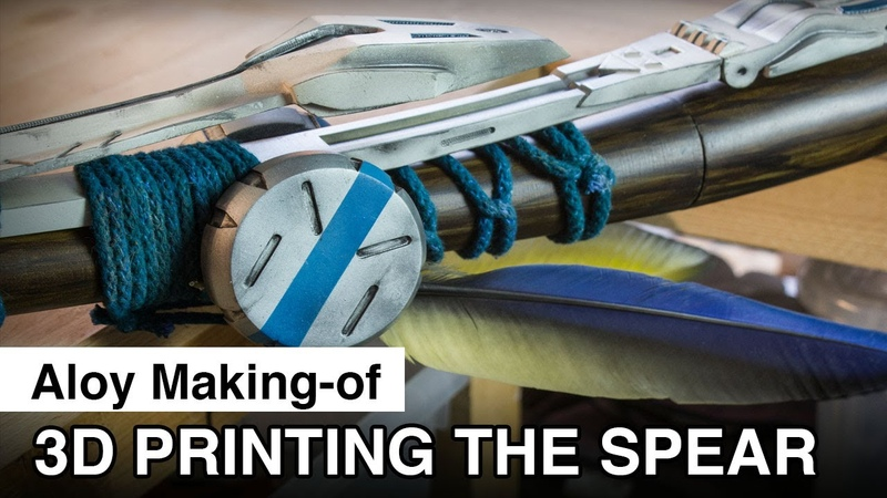 Aloy Cosplay Making of 3D printing the Spear