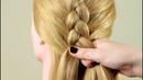 Французская коса Обратная Basic french braid Reverse