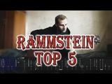 TOP 5 RAMMSTEIN SONGS (easy fingerstyle arrangements with tabs)
