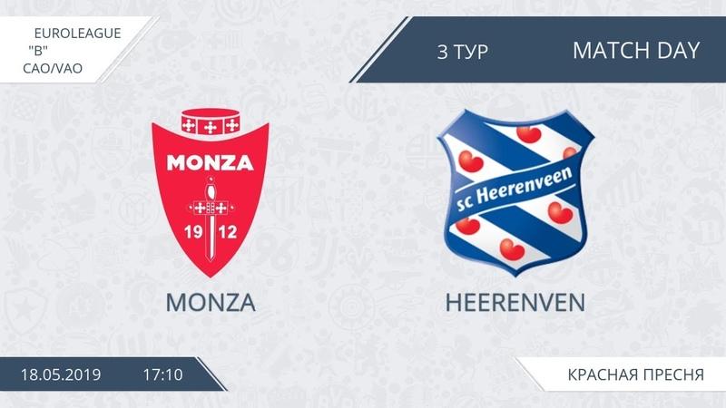 AFL19. EuroLeague. CAOVAO. Division B. Day 3. Monza - Heerenven