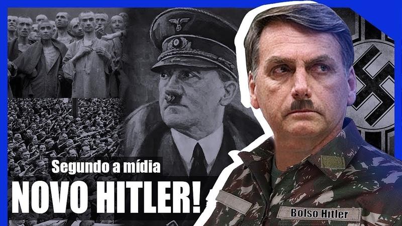 Na Alemanha é mostrado as semelhanças e diferenças do Bolsonaro e Hitler ambos da extrema-direita