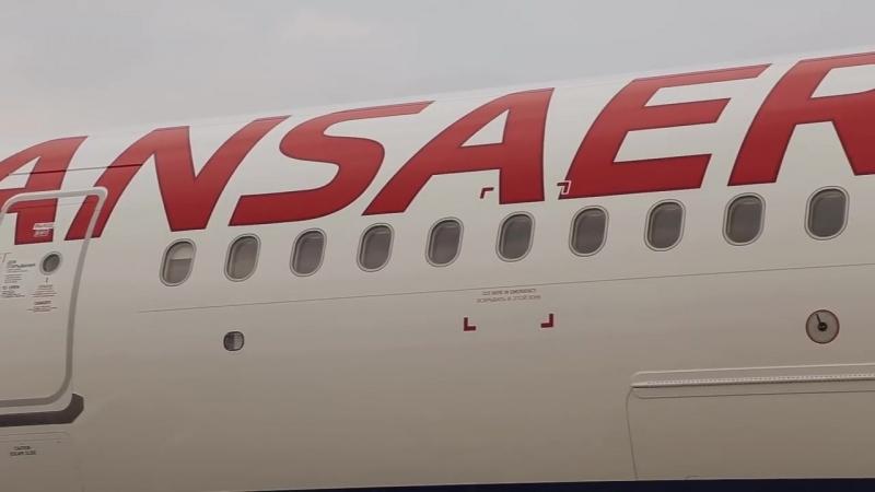 Встреча первого Airbus A321 «Трансаэро»