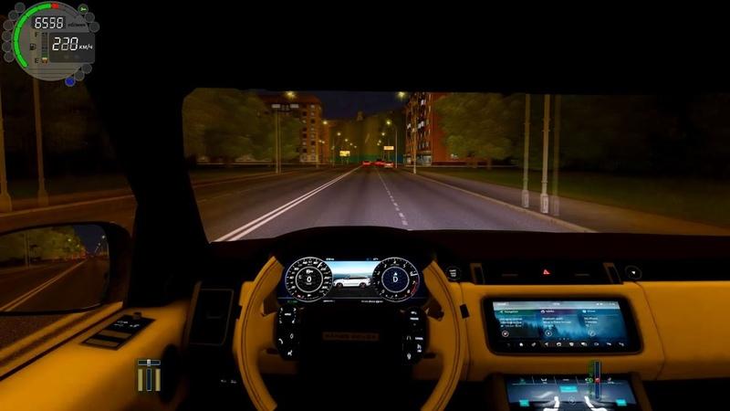 Тест драйв Range Rover Sport SVR 2018 Gameplay City Car Driving Fast night driving