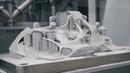 Bugatti Chiron Titanium brake caliper 3D printed on SLM Solutions
