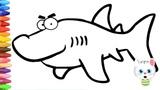 Как нарисовать маленькую акулу