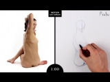 Proko Figure drawing fundamentals - 01 Gesture - Gesture Quicksketch - 2 Minute Pose (14)
