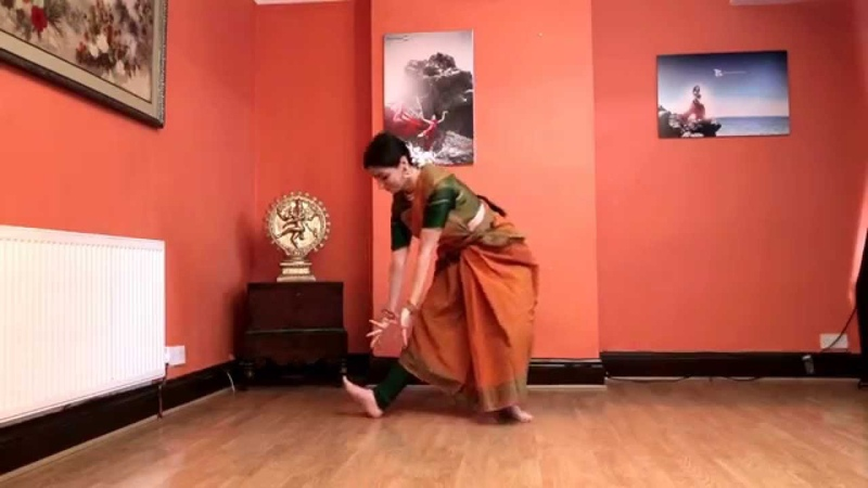 Learn Bharatanatyam Basic Steps 4th Naatadavu Radhini Sivadharan Kalaimanram UK